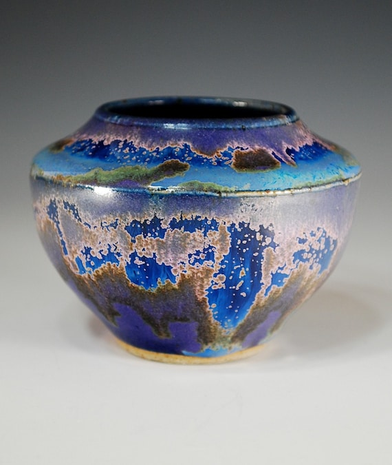 Vase in Purple Rain glaze--wheel thrown stoneware