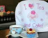 SALE - I Love TEA and CAKE - Gorgeous Applique Tea Cosy