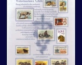 VETERINARIAN'S OATH COLLECTIBLE US STAMP ARTWORK Great Appreciation Gift