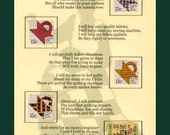 QUILTERS OATH and QUILT TOP COLLECTIBLE US STAMP ARTWORK Great appreciation gift