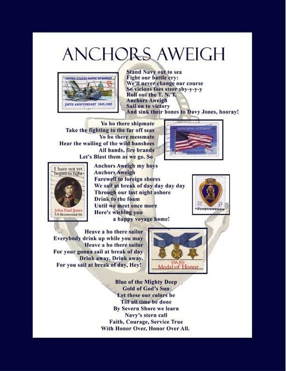 The U.S. Navy Song (Anchors Aweigh) - YouTube