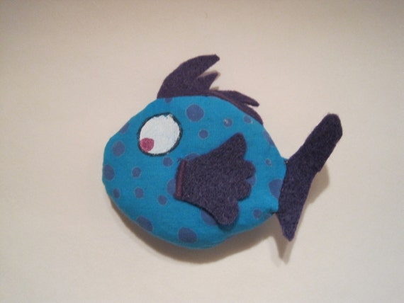 Filled to the Gills with Catnip  - Fish  Cat Toy Filled with Organic Catnip - F3-11