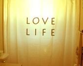 Motivational Inspirational Quote Shower Curtain Love Life Bathroom Decor Kid bath inspire motivate happiness uplifting joy minimalist design