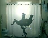 Get Naked Shower Curtain Adult Bathroom Decor Funny Humor Bath
