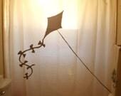 Flying Kite Shower Curtain kids bathroom decor bath fly paper flyer line tail custom unique novelty