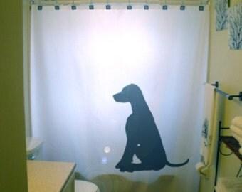 Dog Labrador Retriever Shower Curtain black lab Bathroom Decor Kids bath puppy dogs pet unique