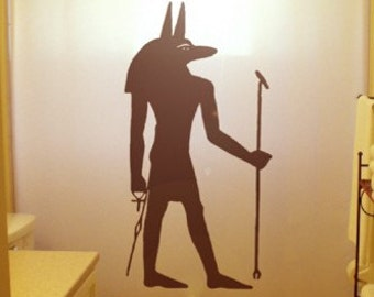 Anubis Shower Curtain Egyptian God of Afterlife Bathroom Decor Kids Bath Inpu Egyptology History Ancient Egypt