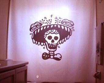 Crazy Psycho Shower Curtain Scary Halloween Horror Killer Stab