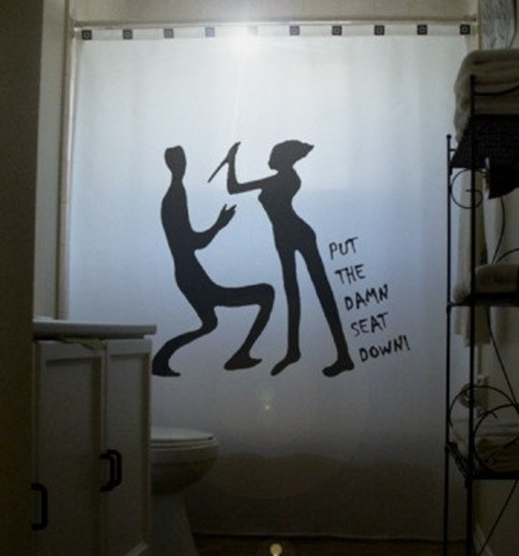 Men Vs Women Shower Curtain Psycho Wife Bathroom Decor Put