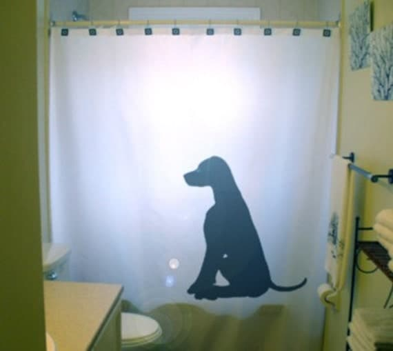 Labrador Retriever Shower Curtain Black Lab Puppy Dog