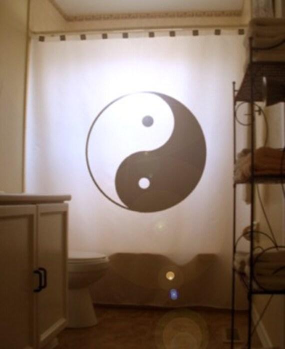 Yin yang douche rideau salle de bain decor enfants bain for Salle de bain yin yang