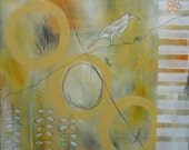 S U M M E R  -  S A L E...  Weisser Rabe (white raven) - Original painting on canvas - Temporary HALF OFF Sale