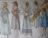 Vintage 1970 Simplicity Misses' Bridesmaid and Wedding Dress Pattern - Size 16