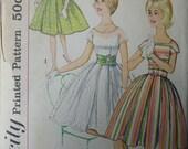 Vintage 1950's Simplicity One-Piece Dress Pattern - Size 8