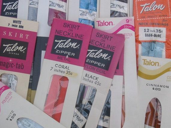 Dating vintage talon zippers