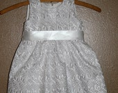 White Eyelet Baptism Dress Includes  Bonnet or purse. 3 months to 3t