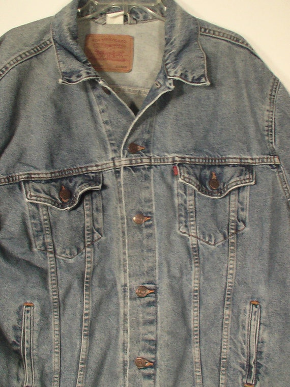 vintage levi levis denim jacket XL extra large 52 54 42 44 jean jacket heavy metal