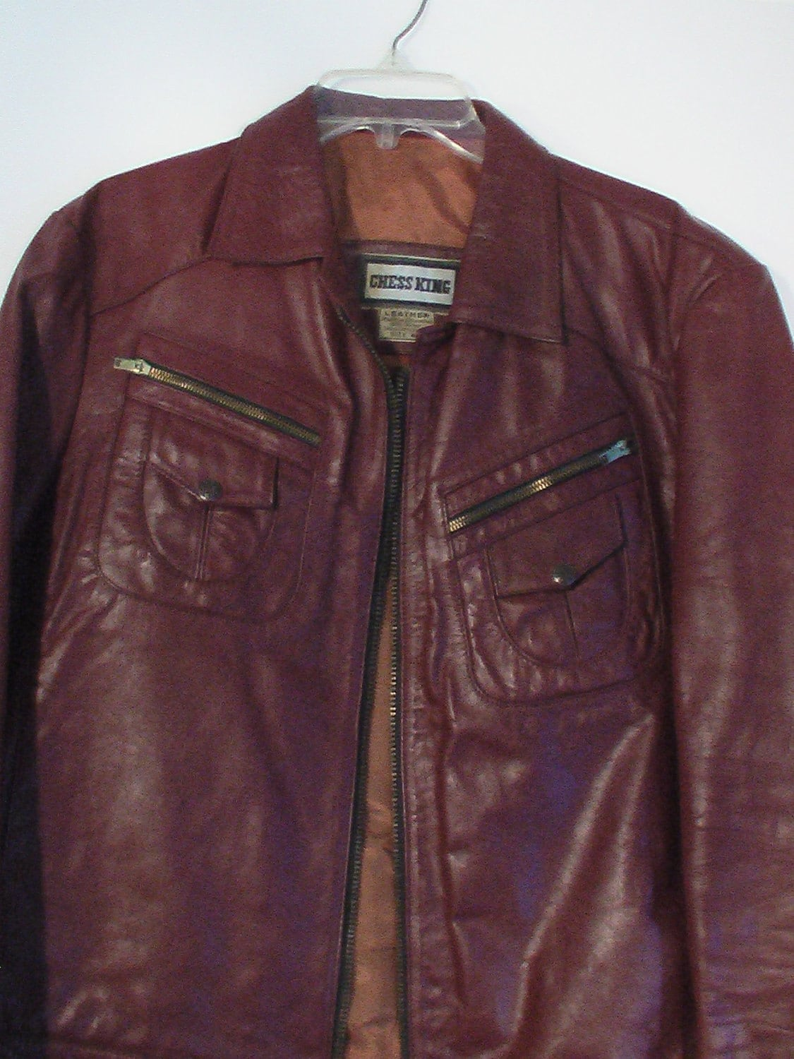 Leather king motorcycle jacket