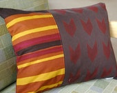 Chevrons and Stripes Throw Pillow Cover