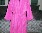 Fleece wrap around robe