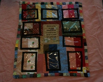 Personalized quilted picture frame