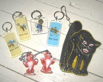 Lot of Seven Vintage Keychains