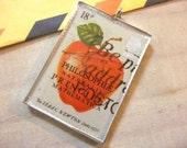 English Postage Stamp Charm - England Newton's Apple