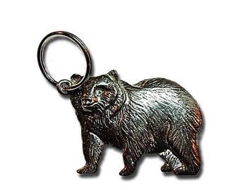 Bear Pewter Keychain