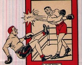 vintage ephemera--the boxer, set of two