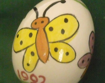 Personalized Ceramic Butterfly egg