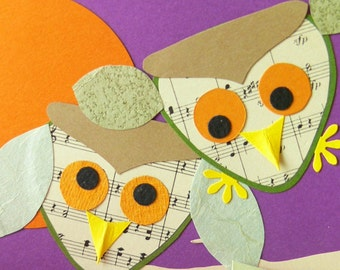 NightSong - custom made set of 5 note cards