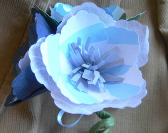 Customizable Paper Flower Wedding Boutonniere