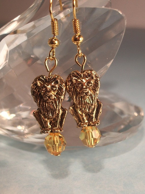 CLEARANCE Courage the Lion Earrings