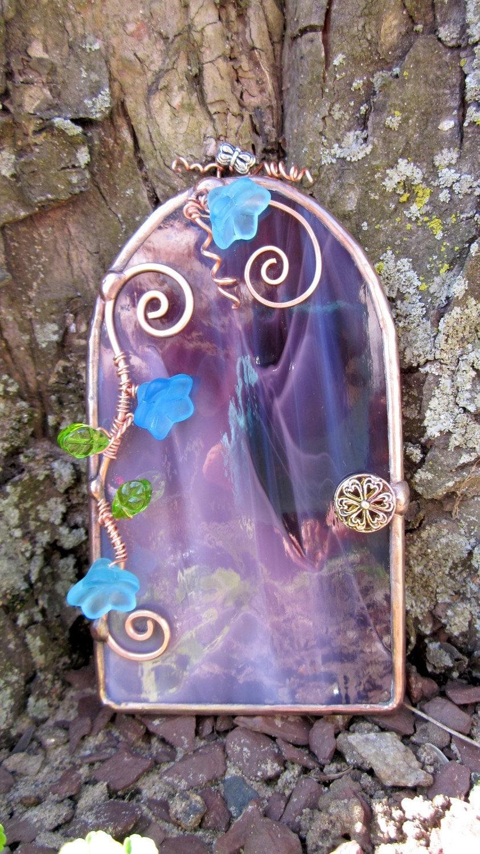 Purple fantasy fairy door for Purple fairy door