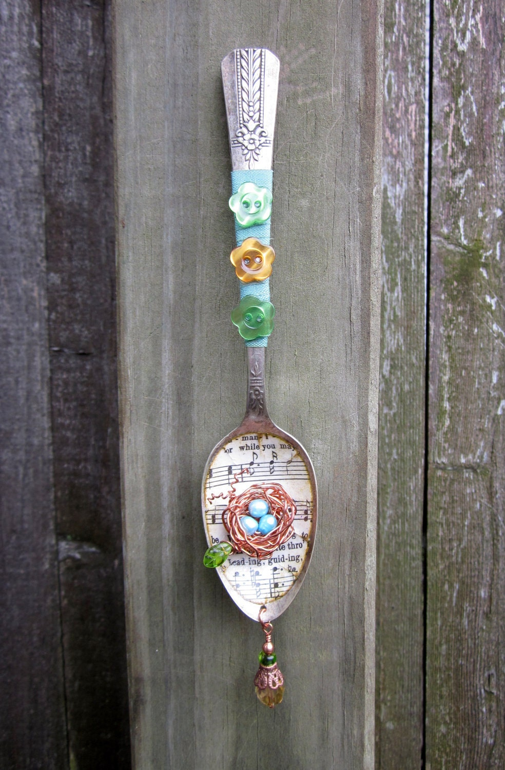 Simple Comfort Altered Spoon Assemblage Art