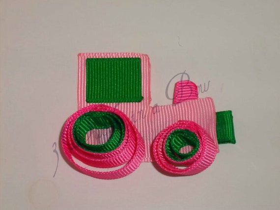 Pink Tractor Hair Clip
