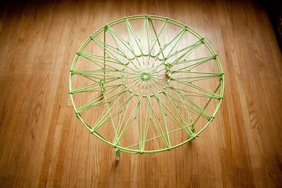 Retro Lime Laundry Basket Table