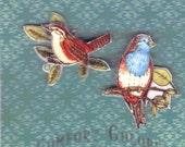 Wild Birds Pin Set