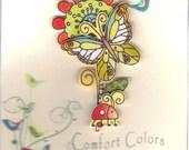 Butterfly Garden Brooch