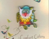 Forest Owl Brooch, Small