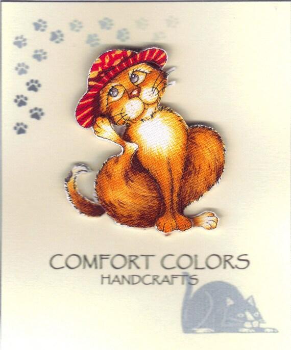 Storybook Cats, Fabric Pin