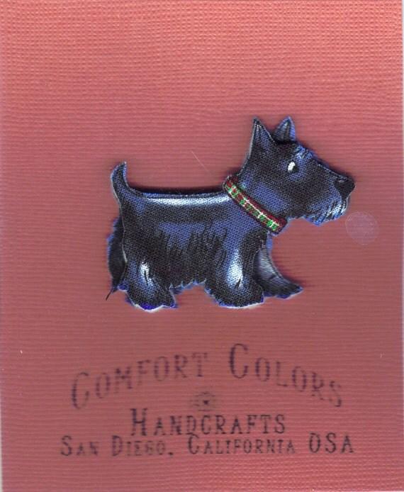 Scottish Terrier CaricatureFabric Pin