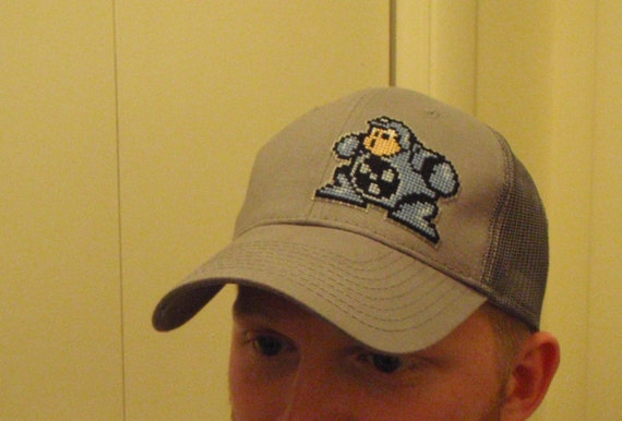 Nifty Cross-Stitched Nintendo Sprite Hat\/Cap