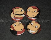 Curious George Buttons-Set of 4
