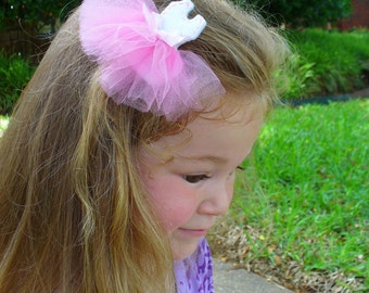 Ballerina Hair Clip - Ballet Hair Clip - Ballet Hair Bow - tutu hair clip - tutu dress hair clip - tutu hair bow