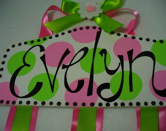 Plaque Style Hair Bow Holder