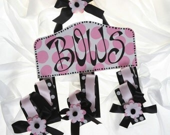 Personalized Bow Holder -  Bow Holder - Hair bow Holder - Hairbow Holder - Hand painted Plaque Style