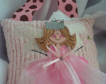 Tooth Fairy Pillow with Hand Painted Little Faces For Girls personalized
