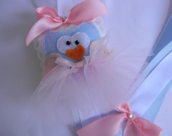 Felt Owl Bow Holder - Ballerina
