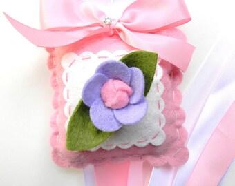 Sweet Felt Lavender Rose Hair Bow Holder
